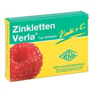 德国Zinkletten Verla 覆盆子补锌补维生素C含片