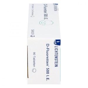D-Fluoretten 婴幼儿维生素D3+氟 口服片(预防佝偻病)