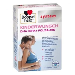 德国Doppelherz 女性备孕叶酸DHA补充系统胶囊