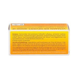 德国Hevert 维他命D3提高免疫力2000IE片剂