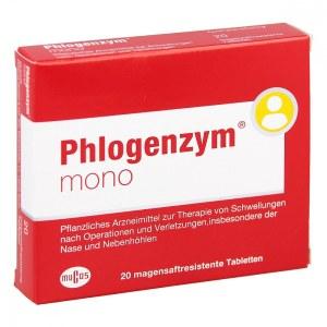 德国Phlogenzym mono 薄膜包衣片剂 (20 Stk)