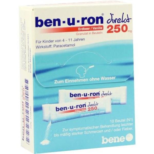 Ben-u-ron direkt Erdbeer/Vanille 250mg