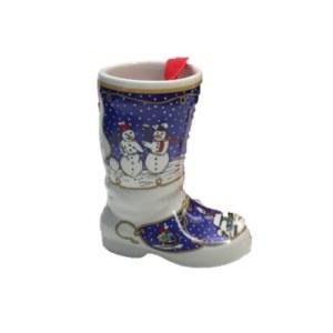 德国Hutschenreuther(狮牌)瓷质靴子型挂件