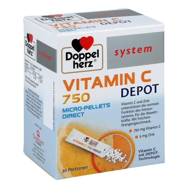 Doppelherz Vitamin C 750 Depot system Pellets